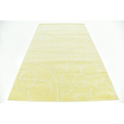 Cartagena Wool Yellow Area Rug Rug Size: 5  x 8