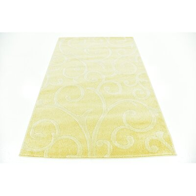 Cartagena Wool Yellow Area Rug Rug Size: 4 x 6