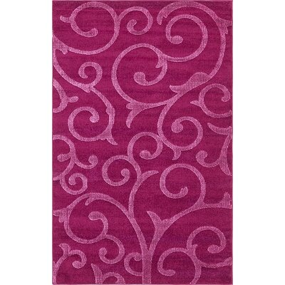 Cartagena Wool Violet Area Rug Rug Size: 5  x 8