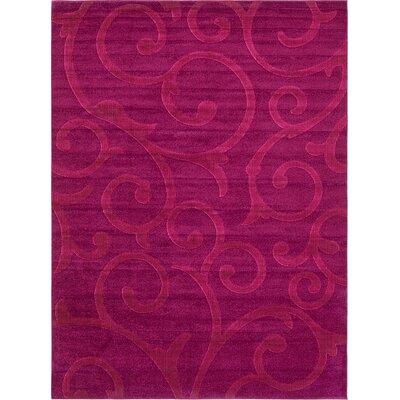 Cartagena Wool Violet Area Rug Rug Size: 9  x 12