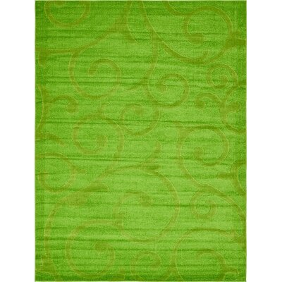 Cartagena Wool Green Area Rug Rug Size: Round 4