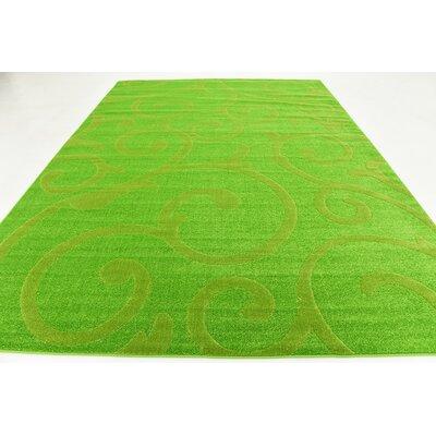 Cartagena Wool Green Area Rug Rug Size: 9 x 12