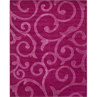 Cartagena Wool Violet Area Rug Rug Size: 8  x 10