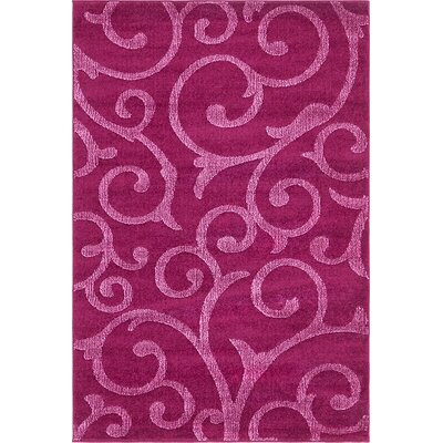 Cartagena Wool Violet Area Rug Rug Size: 4  x 6