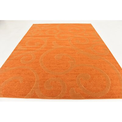 Cartagena Wool Orange Area Rug Rug Size: 8  x 10