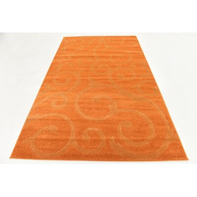 Cartagena Wool Orange Area Rug Rug Size: 5  x 8
