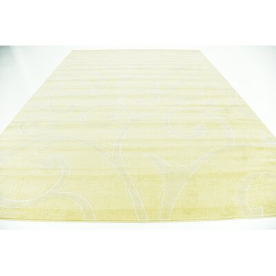 Cartagena Wool Yellow Area Rug Rug Size: 9  x 12