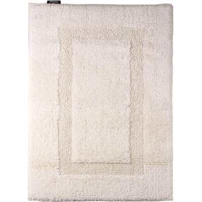 Fairman Reversible Absorbent 100% Cotton Bath Rug Size: 0.8 H x 39.4 W x 23.6 D, Color: Beige