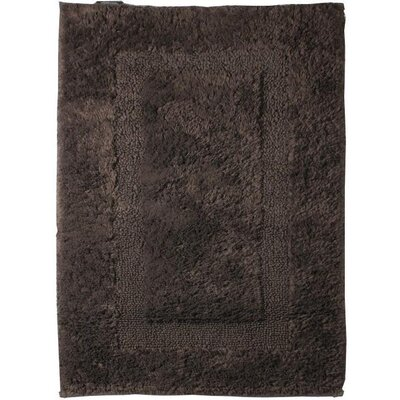 Fairman Reversible Absorbent 100% Cotton Bath Rug Size: 0.8 H x 39.4 W x 23.6 D, Color: Brown