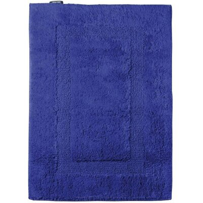 Fairman Reversible Absorbent 100% Cotton Bath Rug Size: 0.8 H x 31.5 W x 19.7 D, Color: Blue