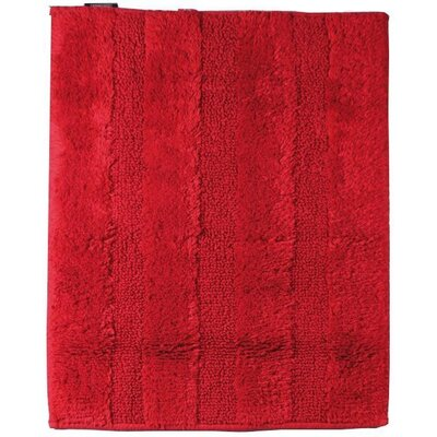 Fairman Reversible Absorbent 100% Cotton Bath Rug Size: 0.6 H x 47.2 W x 27.6 D, Color: Red