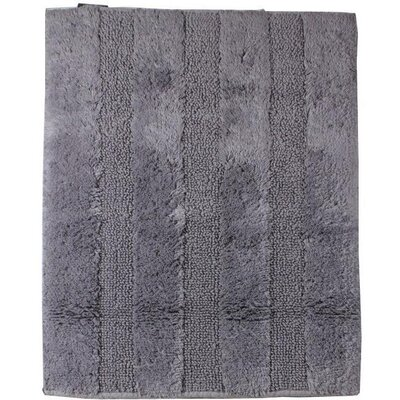 Fairman Reversible Absorbent 100% Cotton Bath Rug Size: 0.6 H x 47.2 W x 27.6 D, Color: Dark Gray