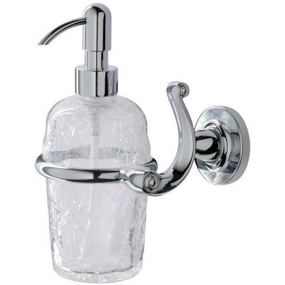 Ahlers Wall Crackled Glass Pump Soap & Lotion Dispenser 4381A0A3AC024CEA8980960D15381F64