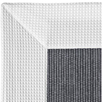 Ewald Absorbent 100% Cotton Bath Rug Size: 0.8 H x 39.4 W x 23.6 D, Color: White/Gray