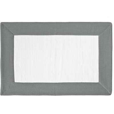 Ewald Absorbent 100% Cotton Bath Rug Size: 0.8 H x 39.4 W x 23.6 D, Color: Gray/White
