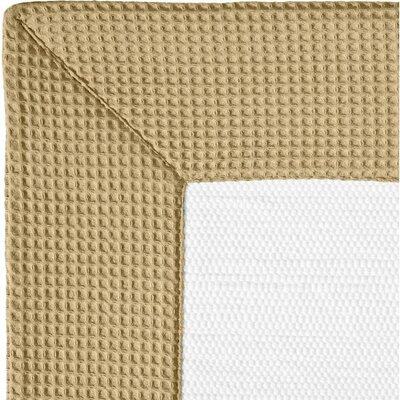 Ewald Absorbent 100% Cotton Bath Rug Size: 0.8 H x 39.4 W x 23.6 D, Color: Sand/White