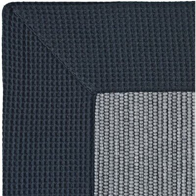 Ewald Absorbent 100% Cotton Bath Rug Size: 0.8 H x 27.6 W x 19.7 D, Color: Black/Gray