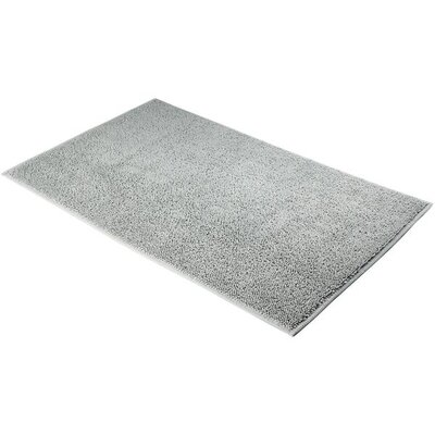Konieczny Absorbent 100% Cotton Bath Mat Size: 0.8 H x 39.4 W x 23.6 D, Color: Silver Gray