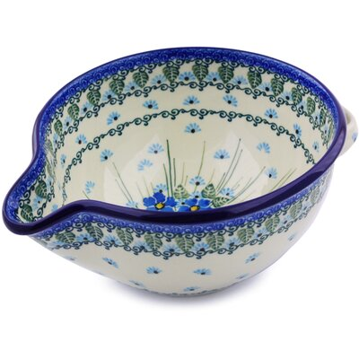 Polish Pottery Batter Stoneware Mixing Bowl H0715I