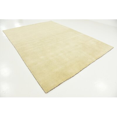 Taul Hand-Knotted Wool Beige Area Rug Rug Size: 8 2 x 11 6