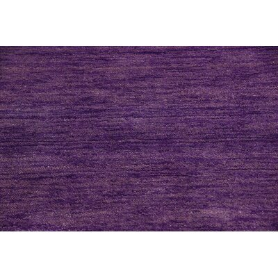 Taul Hand-Knotted Wool Purple Area Rug Rug Size: 2 7 x 6 7