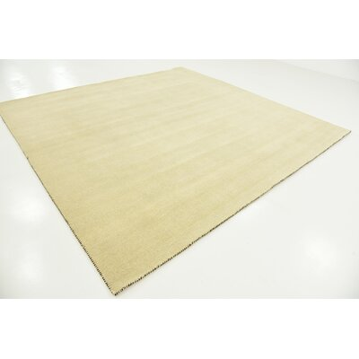 Taul Hand-Knotted Wool Beige Area Rug Rug Size: Square 9 10