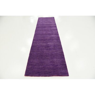 Taul Hand-Knotted Wool Purple Area Rug Rug Size: 2 7 x 9 10