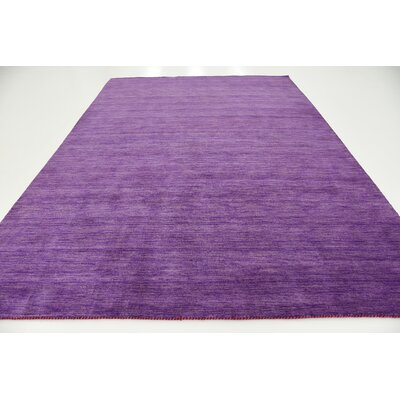 Taul Hand-Knotted Wool Purple Area Rug Rug Size: 8 2 x 11 6