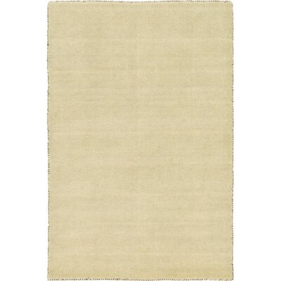 Taul Hand-Knotted Wool Beige Area Rug Rug Size: 4 0 x 6 0