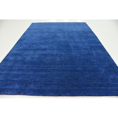 Taul Hand-Knotted Wool Blue Area Rug Rug Size: 8 2 x 11 6