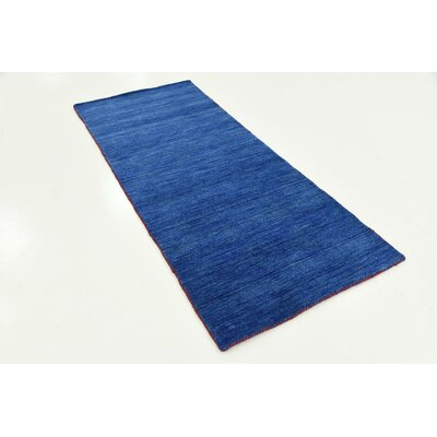 Taul Hand-Knotted Wool Blue Area Rug Rug Size: 2 7 x 6 7