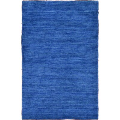 Taul Hand-Knotted Wool Blue Area Rug Rug Size: Square 9 10