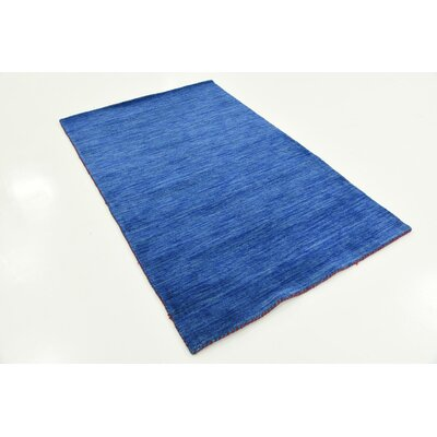 Taul Hand-Knotted Wool Blue Area Rug Rug Size: 3 3 x 5 3