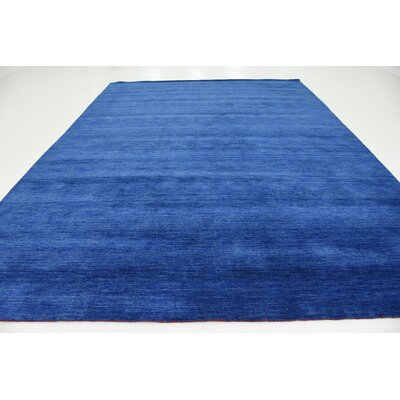 Taul Hand-Knotted Wool Blue Area Rug Rug Size: 9 10 x 13 0