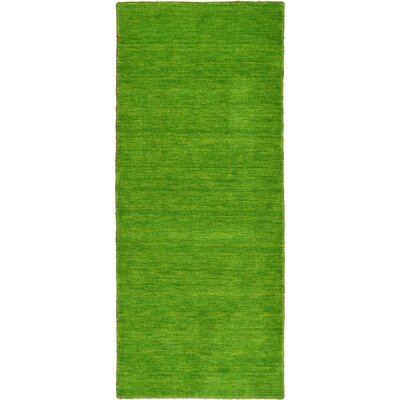 Taul Hand-Knotted Wool Light Green Area Rug Rug Size: 2 7 x 6 7