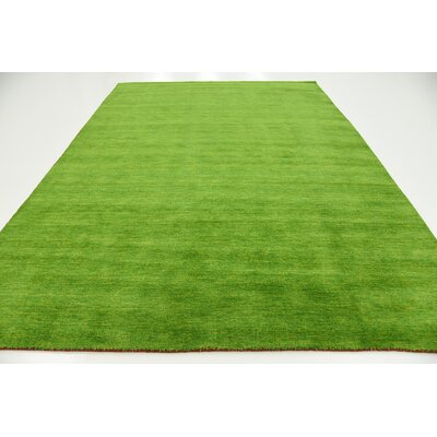 Taul Hand-Knotted Wool Light Green Area Rug Rug Size: 8 2 x 11 6