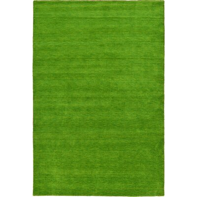 Taul Hand-Knotted Wool Green Area Rug Rug Size: 6 7 x 6 7