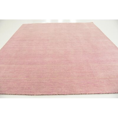 Taul Hand-Knotted Wool Pink Area Rug Rug Size: Square 9 10
