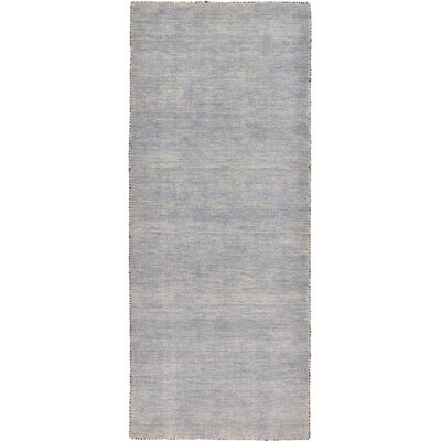 Bottrell Solid Hand-Knotted Wool Gray Area Rug Rug Size: 2' 7 x 6' 7