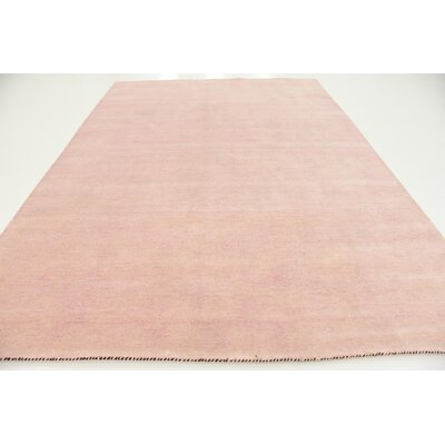 Taul Hand-Knotted Wool Pink Area Rug Rug Size: 8 2 x 11 6