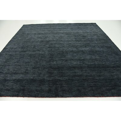 Taul Hand-Knotted Wool Navy Blue Area Rug Rug Size: Square 9 10