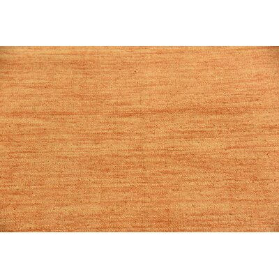 Taul Hand-Knotted Wool Orange Area Rug Rug Size: 2 7 x 6 7