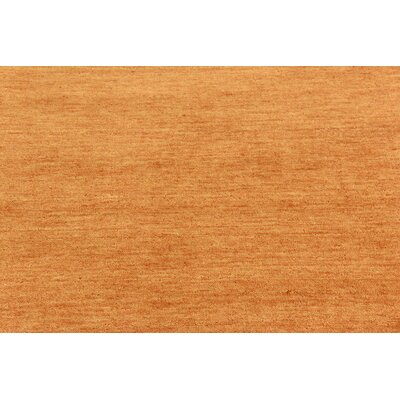 Taul Hand-Knotted Wool Orange Area Rug Rug Size: 4 0 x 6 0