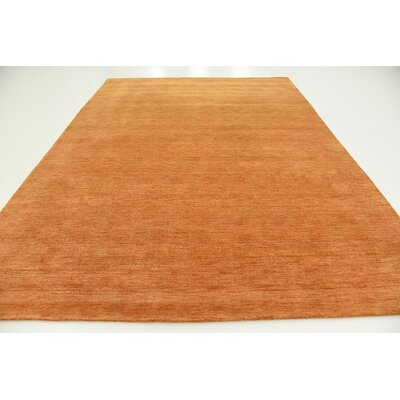 Taul Hand-Knotted Wool Orange Area Rug Rug Size: 8 2 x 11 6