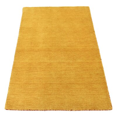 Taul Hand-Knotted Wool Gold Area Rug Rug Size: 3 3 x 5 3