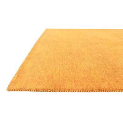Taul Hand-Knotted Wool Orange Area Rug Rug Size: 5 3 x 7 5