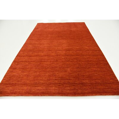 Taul Hand-Knotted Wool Terracotta Area Rug Rug Size: 6 7 x 9 10