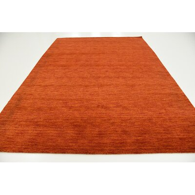Taul Hand-Knotted Wool Terracotta Area Rug Rug Size: 8 2 x 11 6