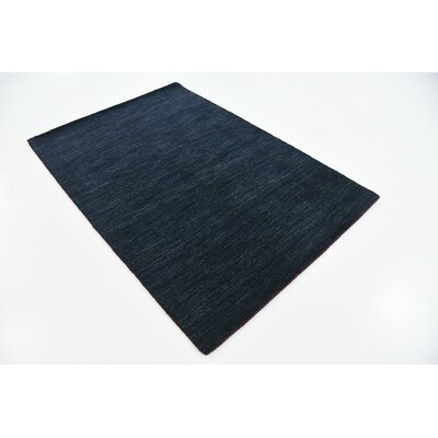 Taul Hand-Knotted Wool Navy Blue Area Rug Rug Size: 4 0 x 5 9