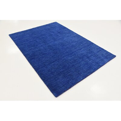 Taul Hand-Knotted Wool Blue Area Rug Rug Size: 4 0 x 5 7